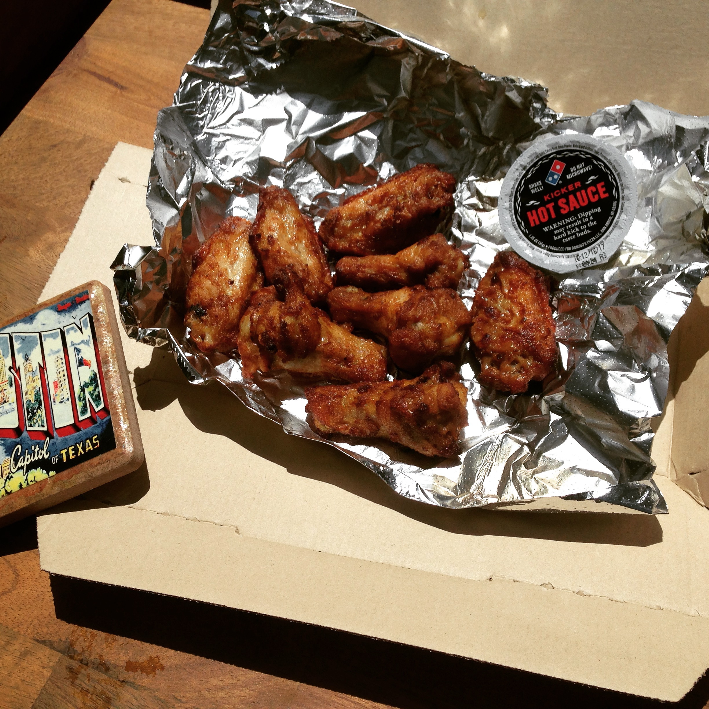 Low carb Domino's wings.
