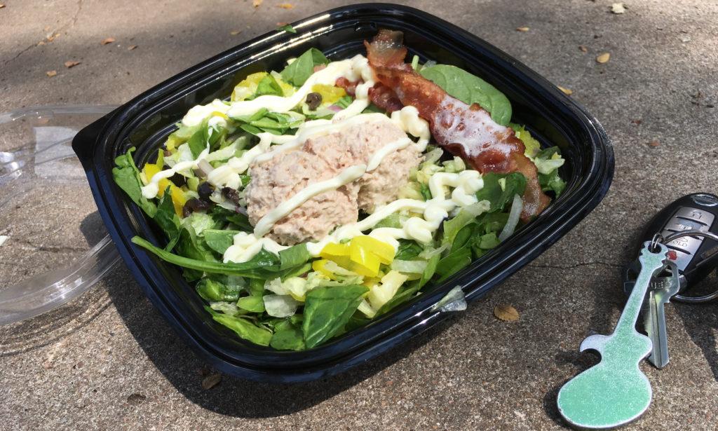 My low carb Subway tuna salad.