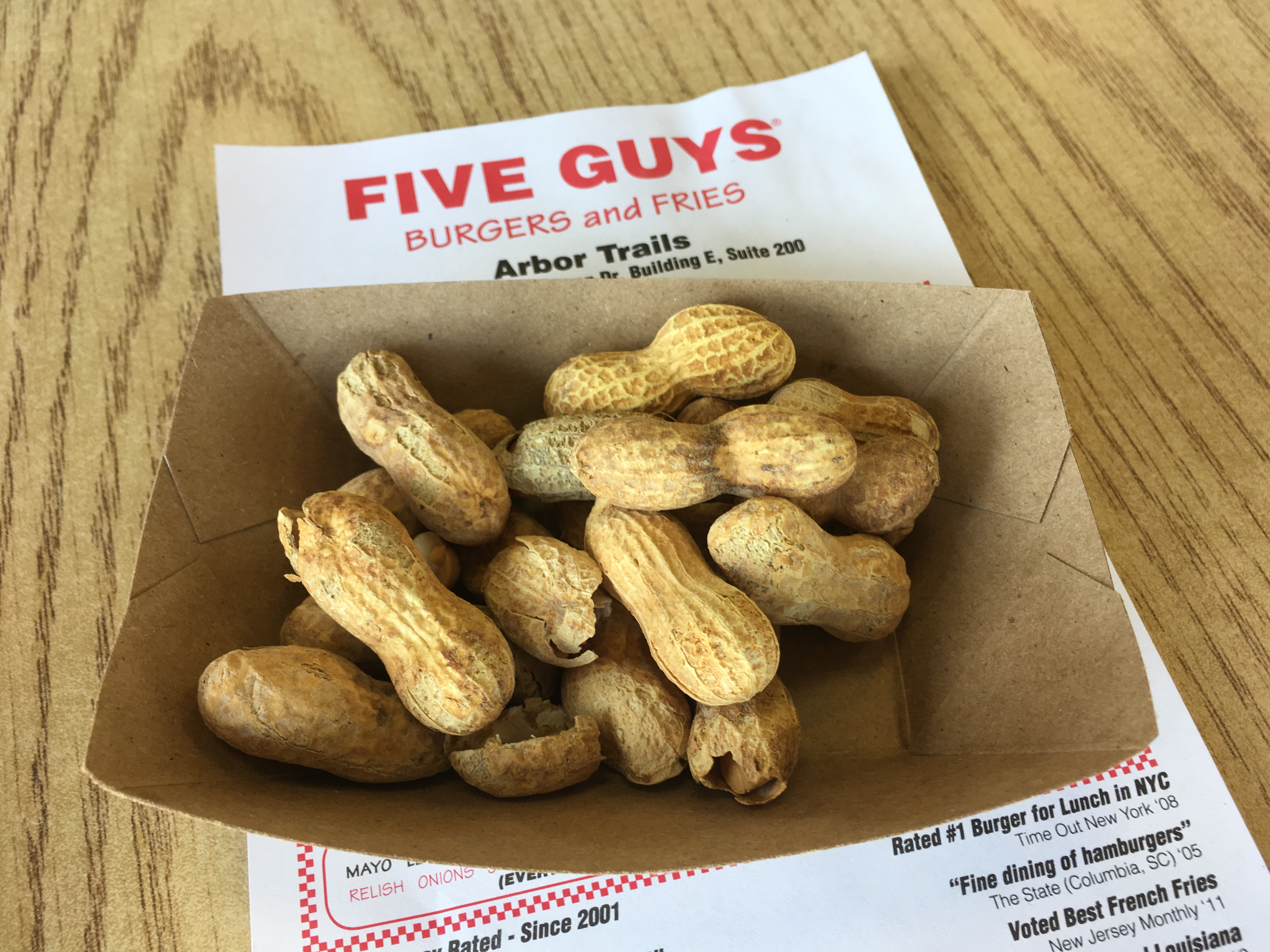 Five Guys Low Carb Peanuts