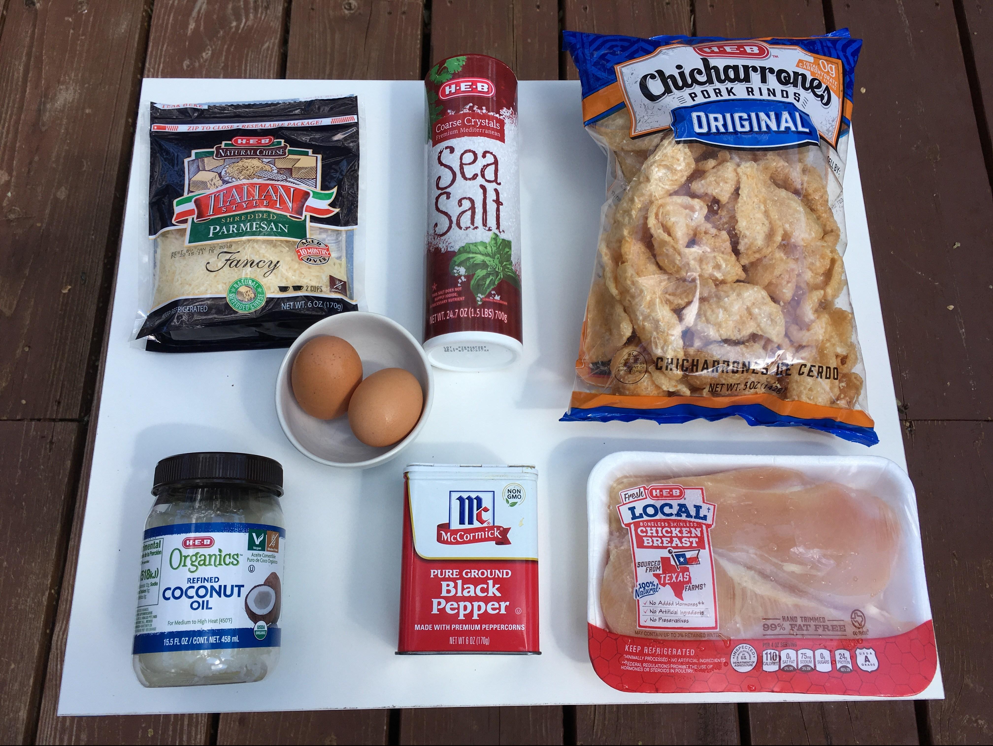Keto Fried Chicken Ingredients