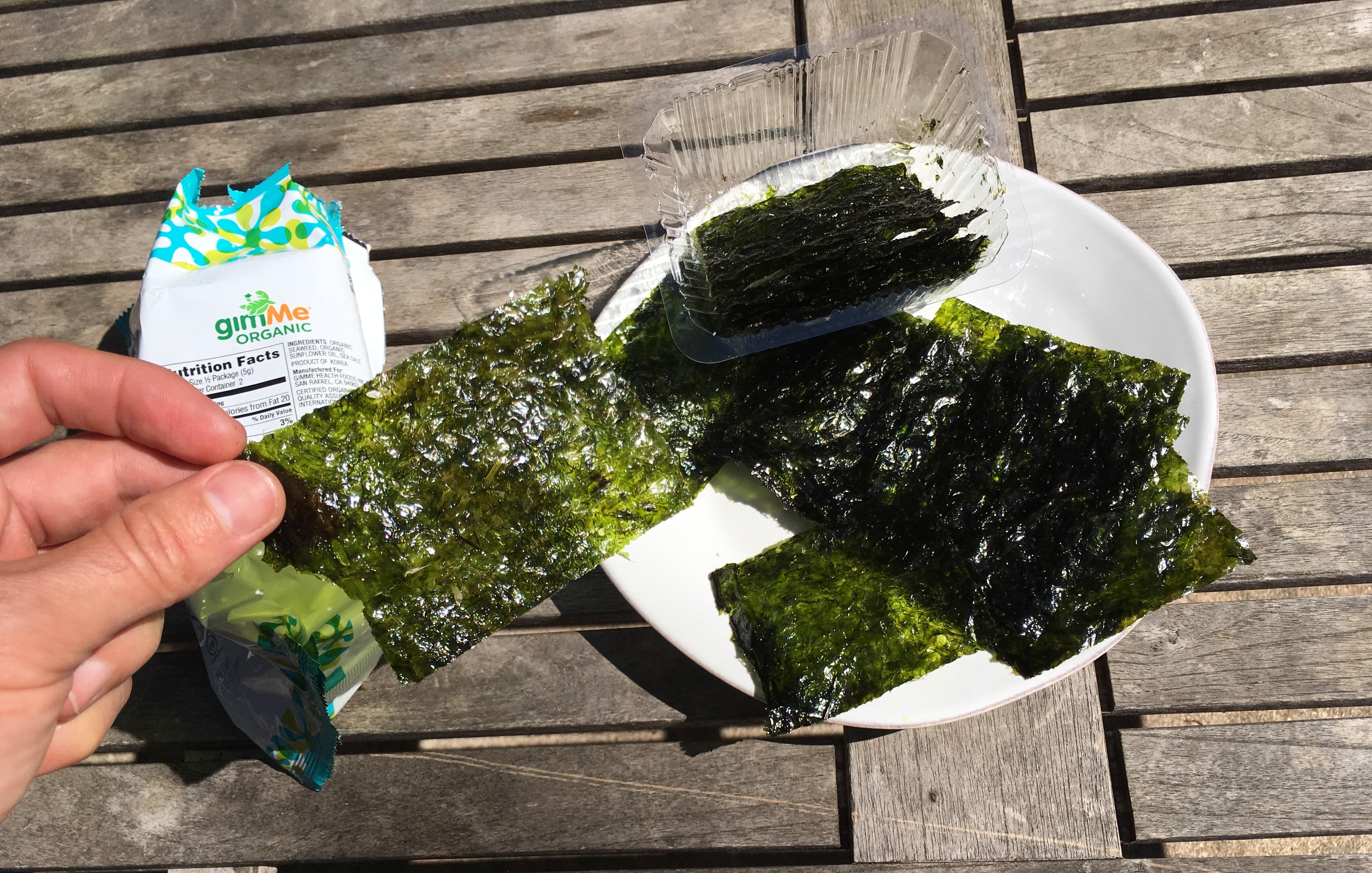 Keto Roasted Seaweed Served