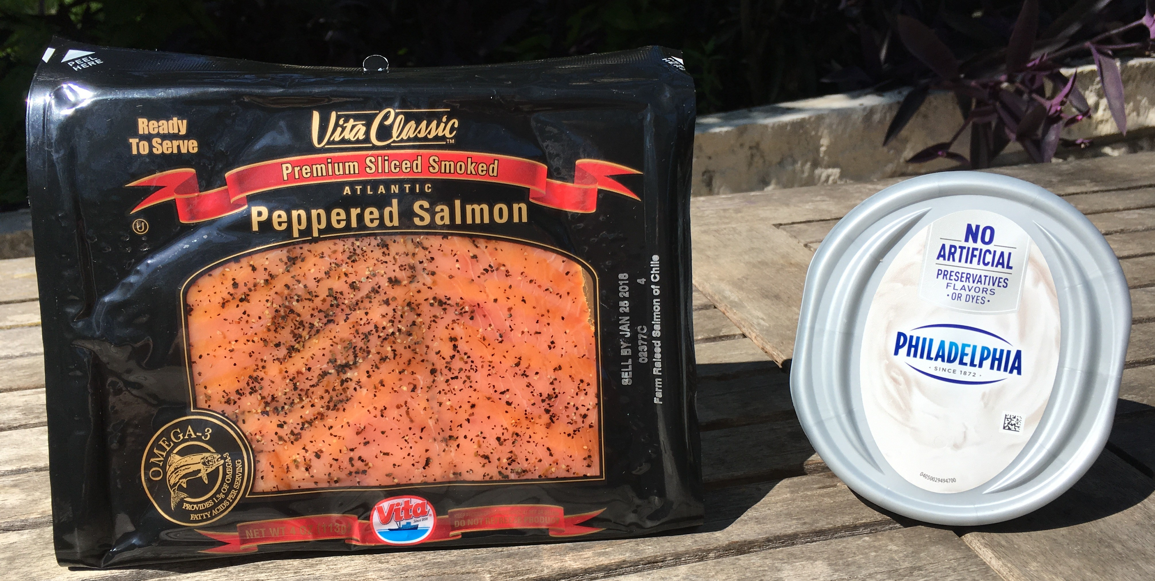 Keto Salmon and Cream Cheese Rollup Ingredients