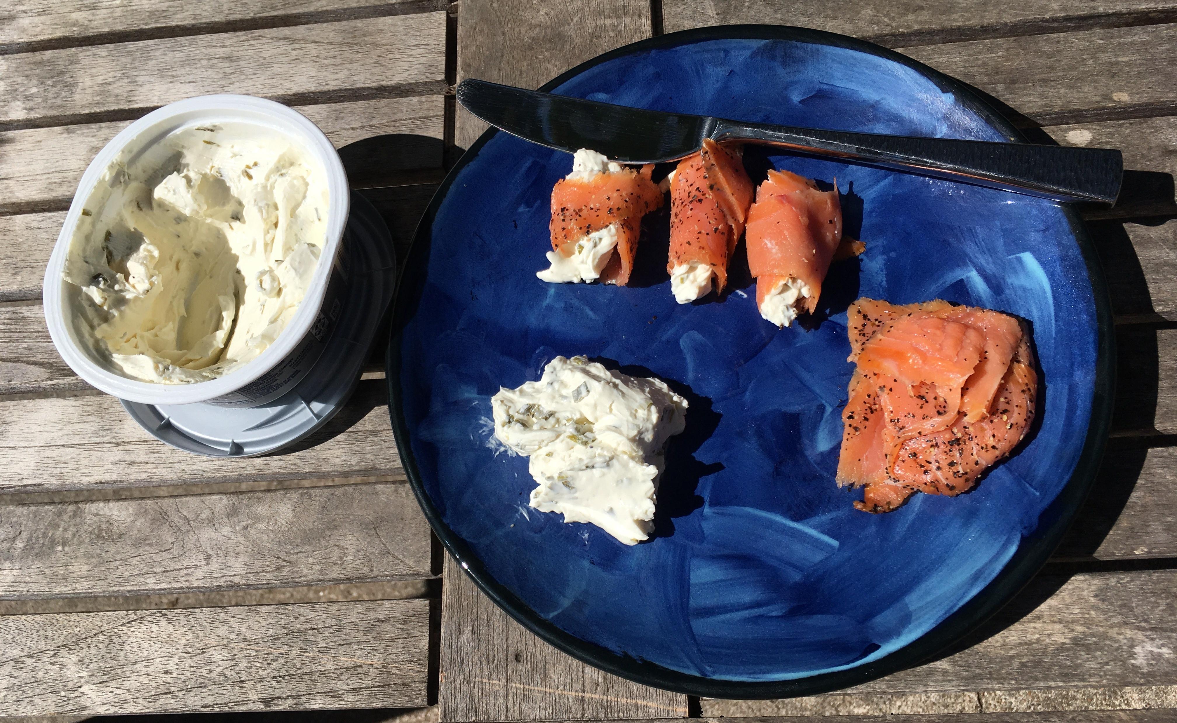 Keto Salmon and Cream Cheese Rollups