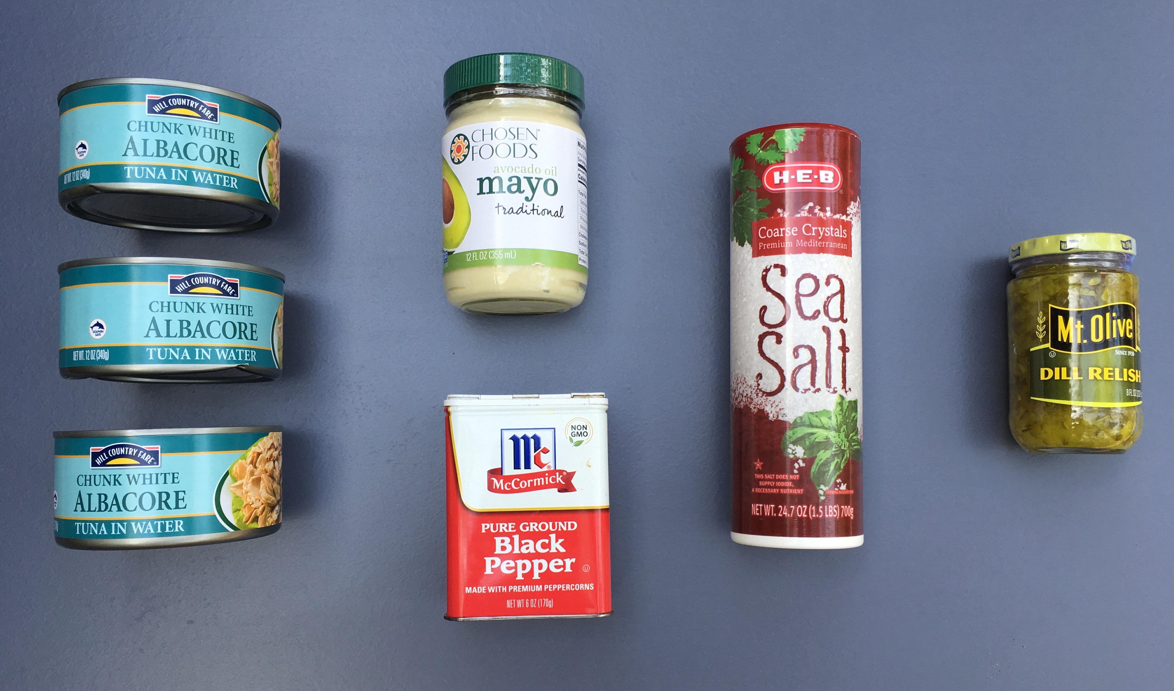 Keto Tuna Salad Ingredients