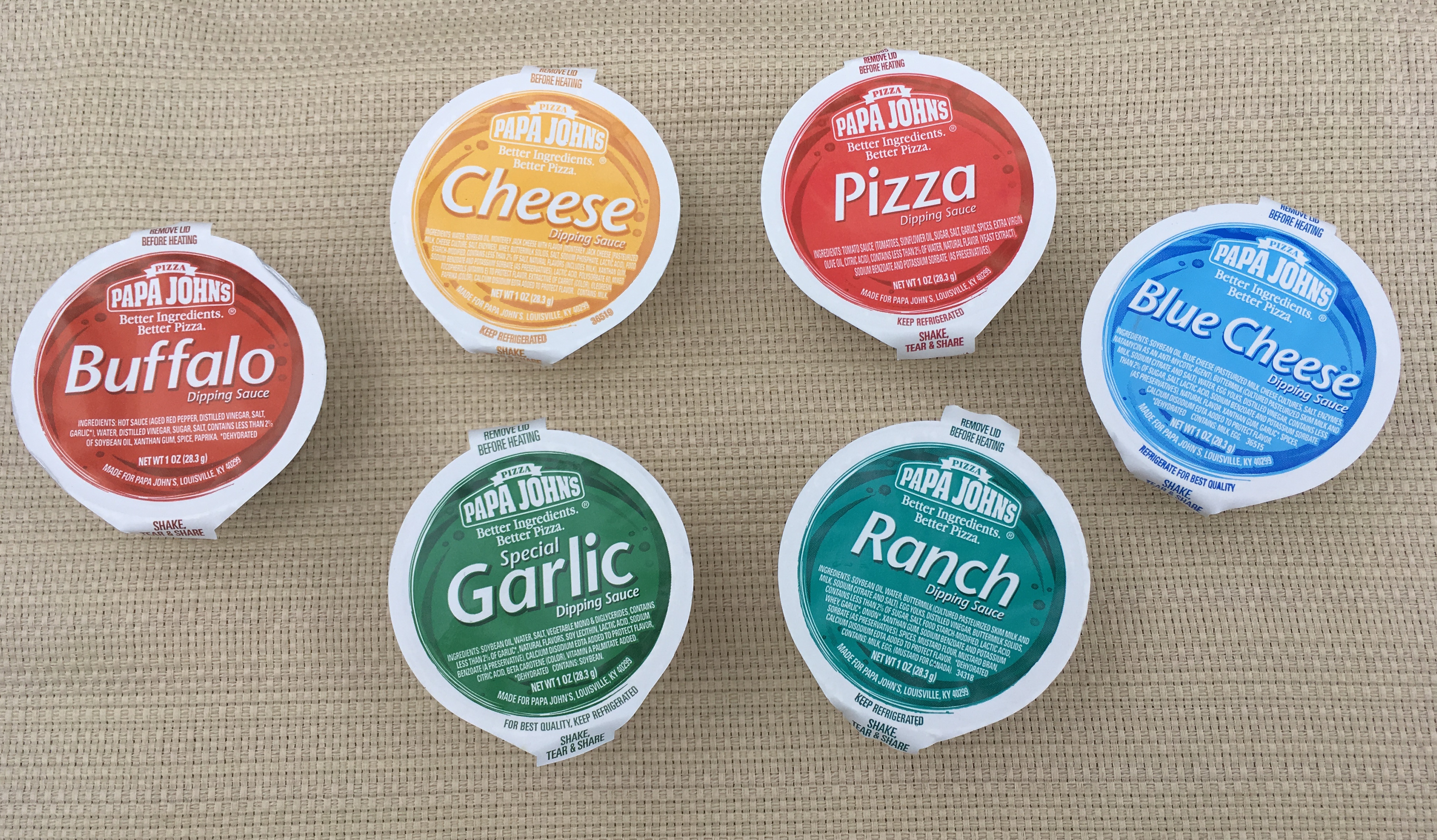 Low Carb Papa Johns Dipping Sauces