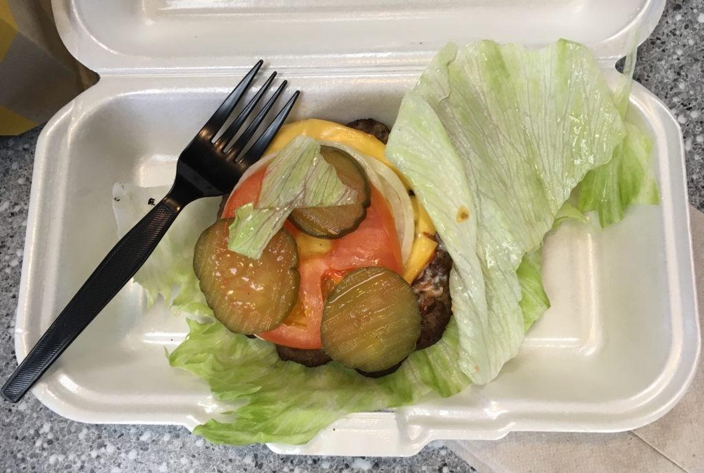 Low Carb Carls Jr Famous Star Burger