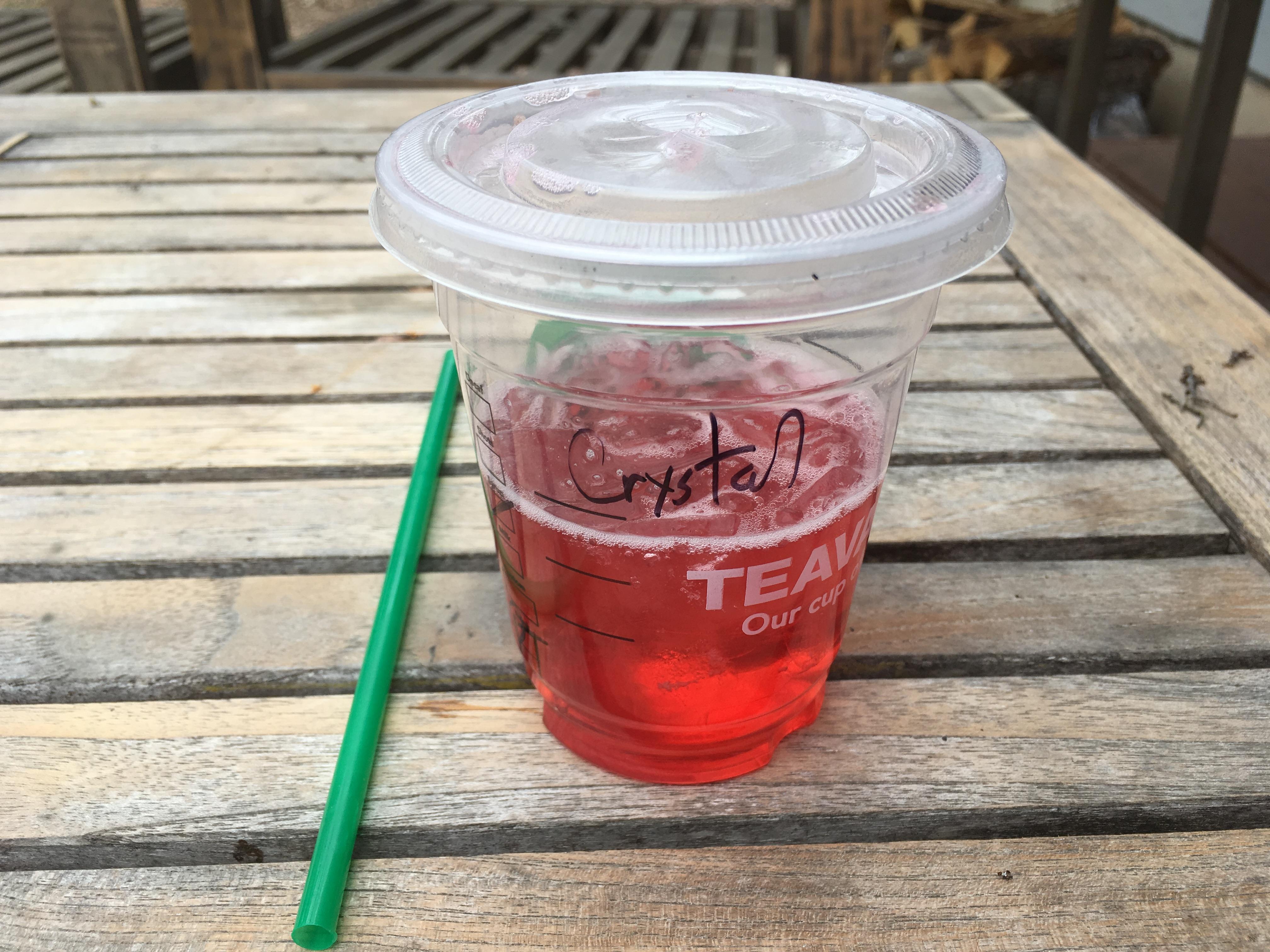 Low Carb Starbucks Passion Tango Herbal Tea on Ice
