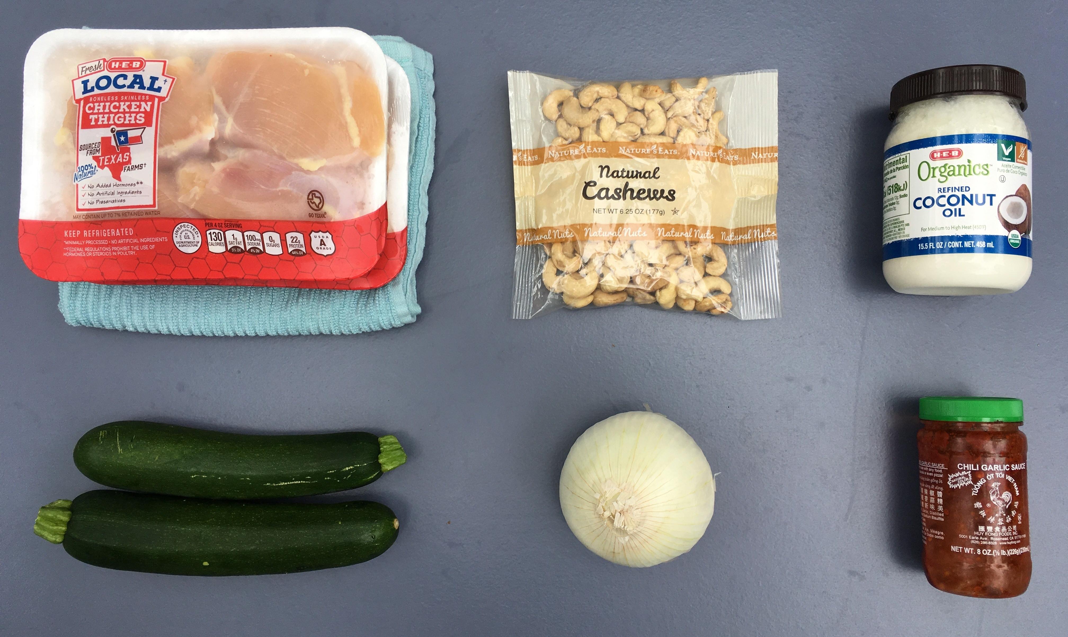 Low Carb Chicken Stir Fry - Ingredients