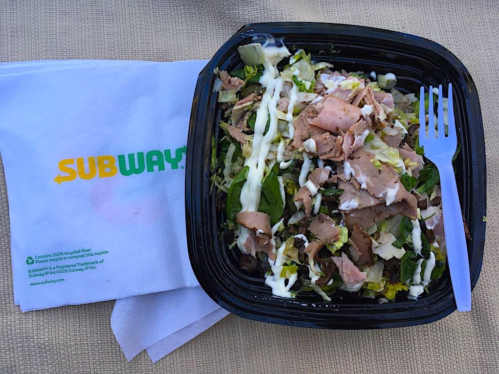 low carb subway salad