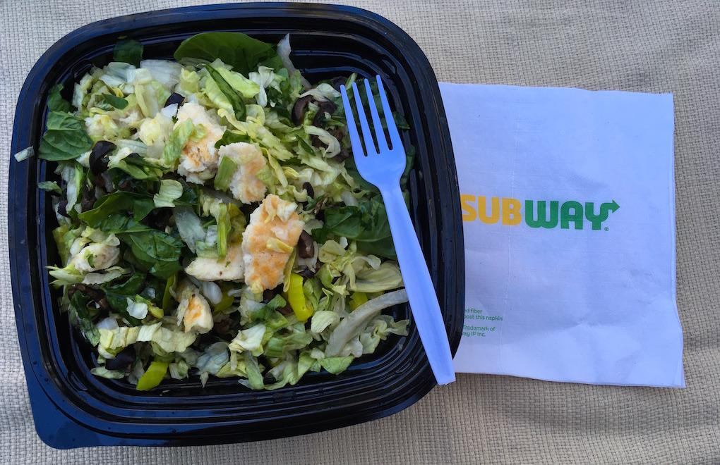 Subway Roasted Chicken Patty Salad
