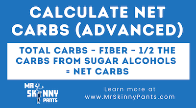 how to calculate sugar alcohols and net carbs